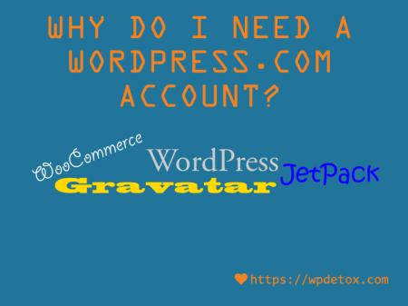 Why do I need a WordPress.com account?
